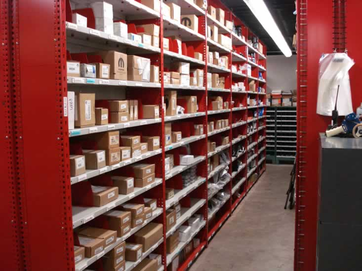 Metal Shelving Automotive Part Storage