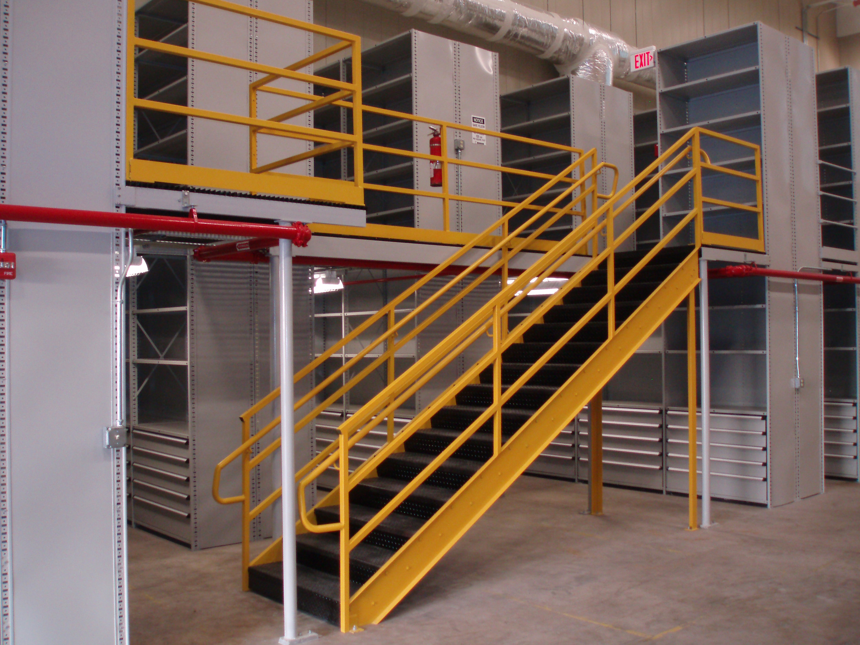 Tyler Supply Industrial steel work platforms (mezzanines) are your best solution to fully utilize existing overhead space