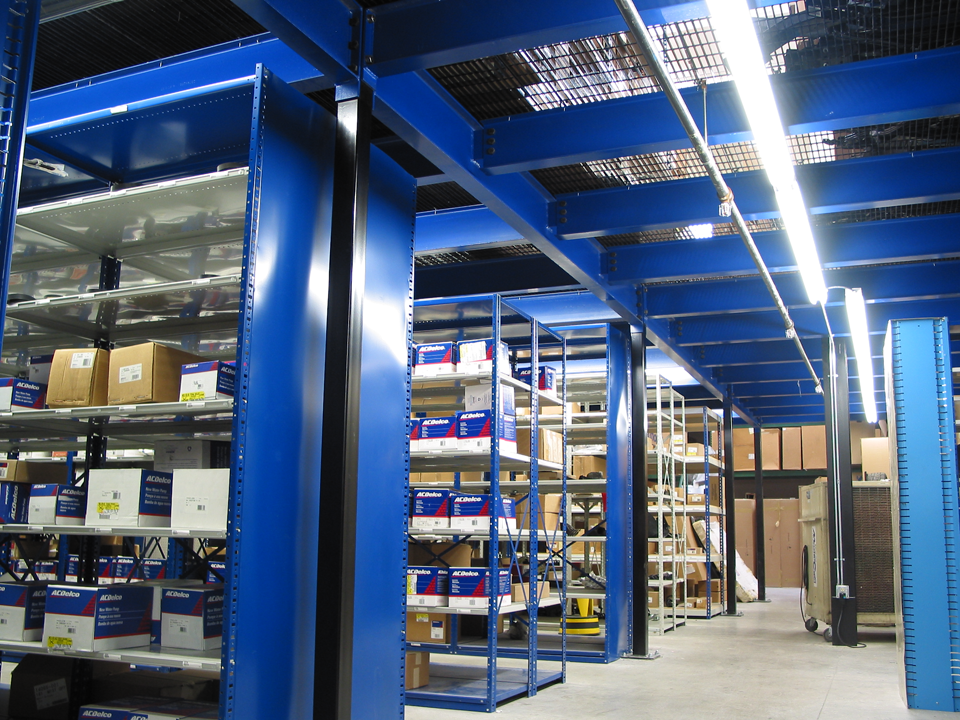 structural mezzanines and mezzanine floor systems that turn empty overhead space into productive work areas from Tyler Supply Company