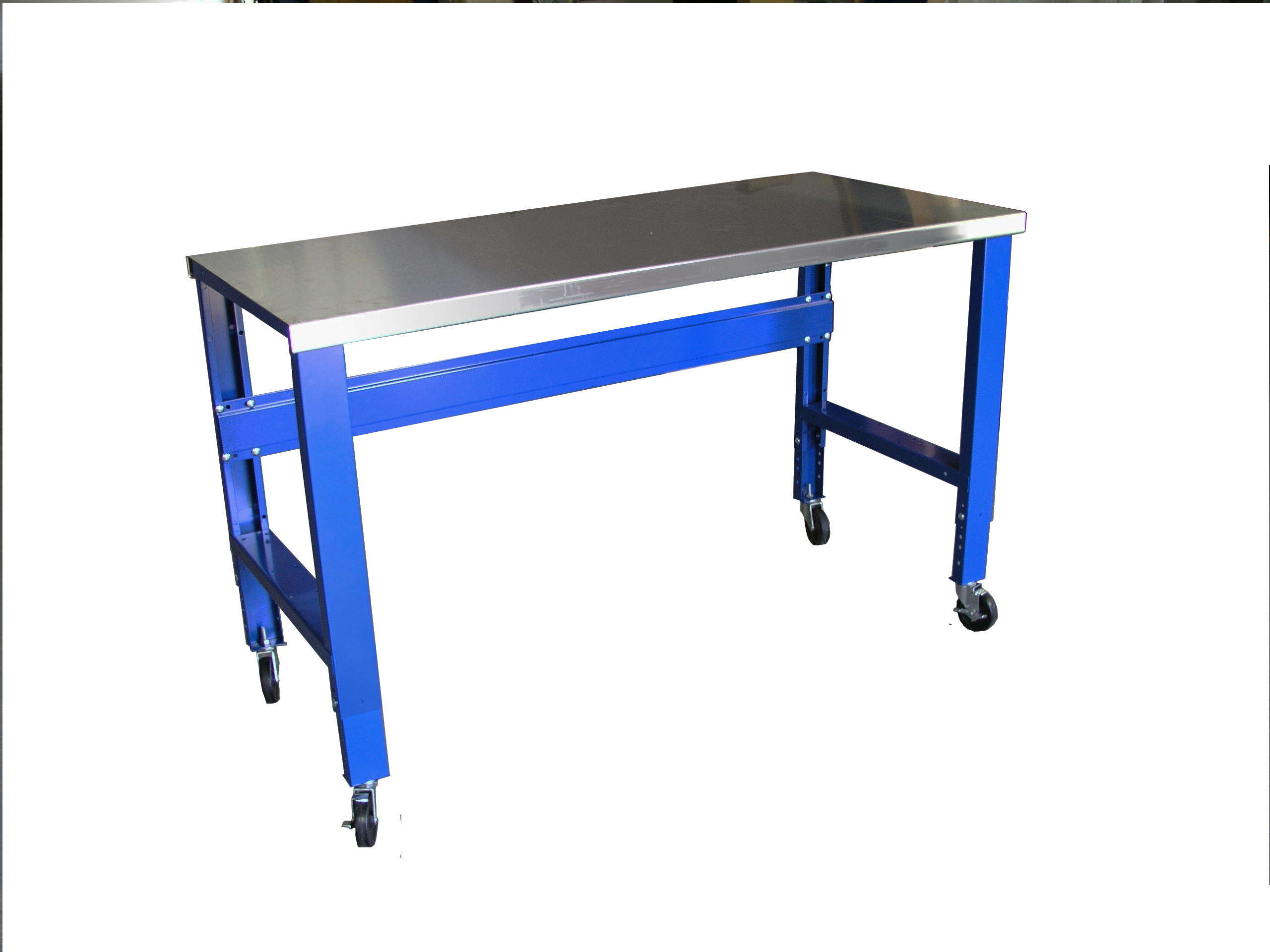 Metal mobile workbench with wheels - Perfect for workshops, manufacturing, automotive, and more! - Tyler Supply
