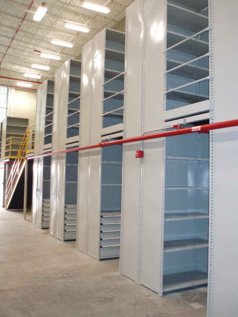 Metal space-saving shelving to help you archive your files with ease and durability.