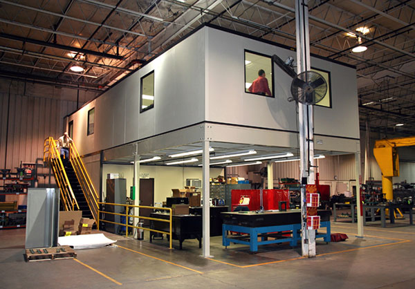 A modular office system with office space dividers is the perfect way to keep your employees productive and comfortable in a warehouse or manufacturing environment.