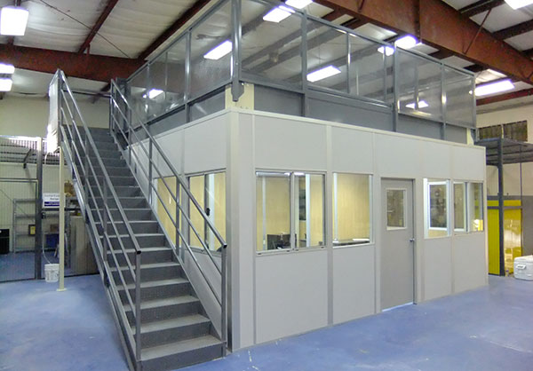 Modular Building Systems offer many options for inplant warehouse offices